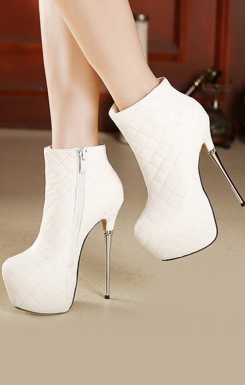 Botins Pleasures Boots White
