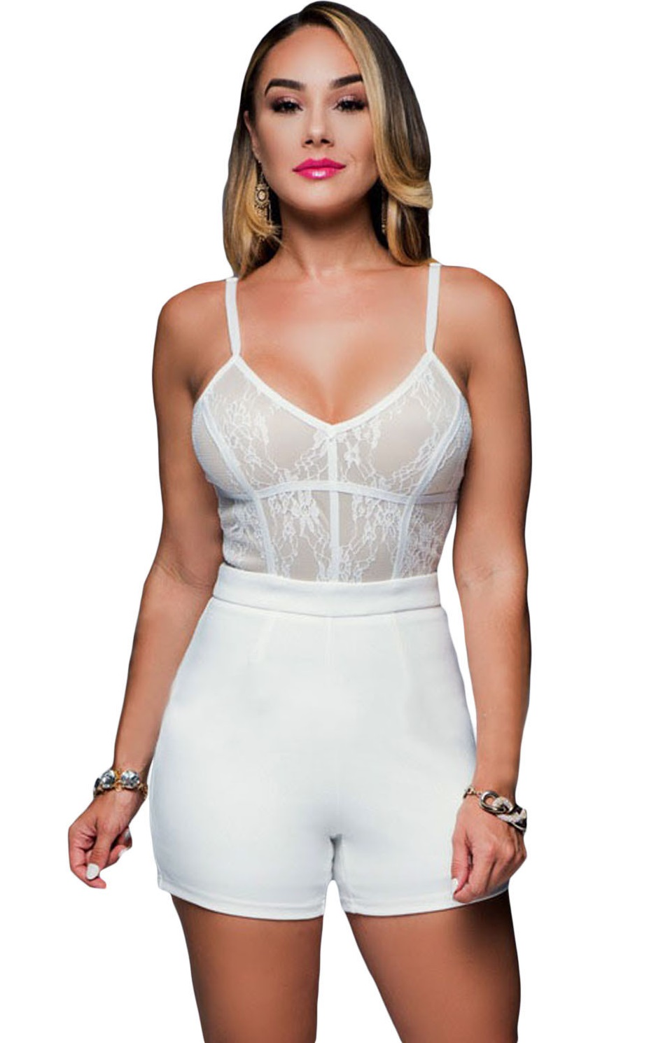 Pleasures Lace Jumpsuit