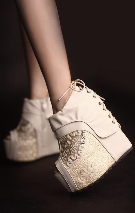 Sapatos de plataforma Linhachic