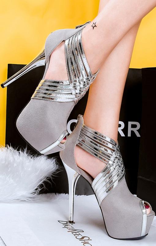 Sandálias Pleasures Sandals Silver