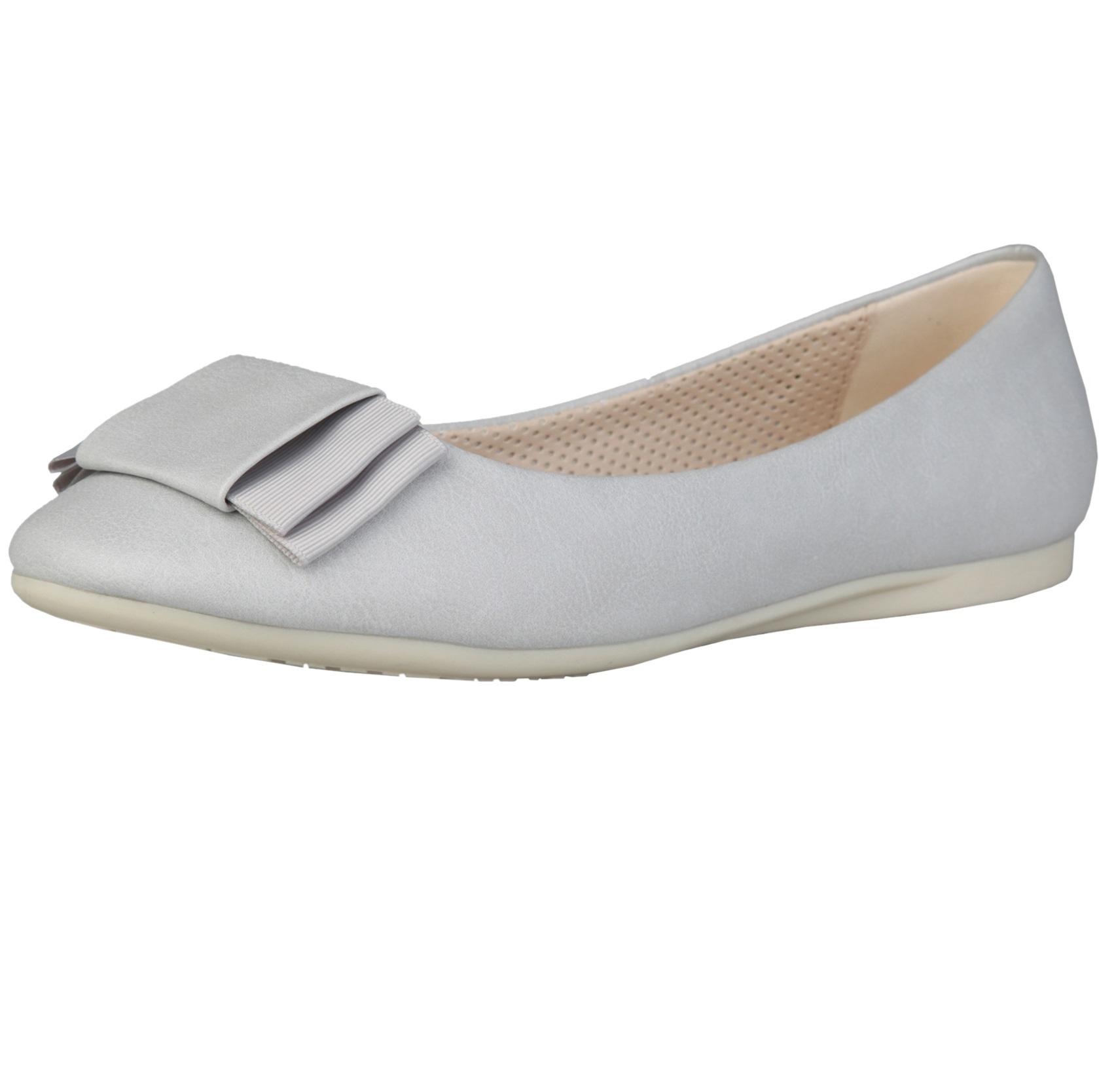 Sofia Loes Flat Shoes Fiocco Argento Rf600155