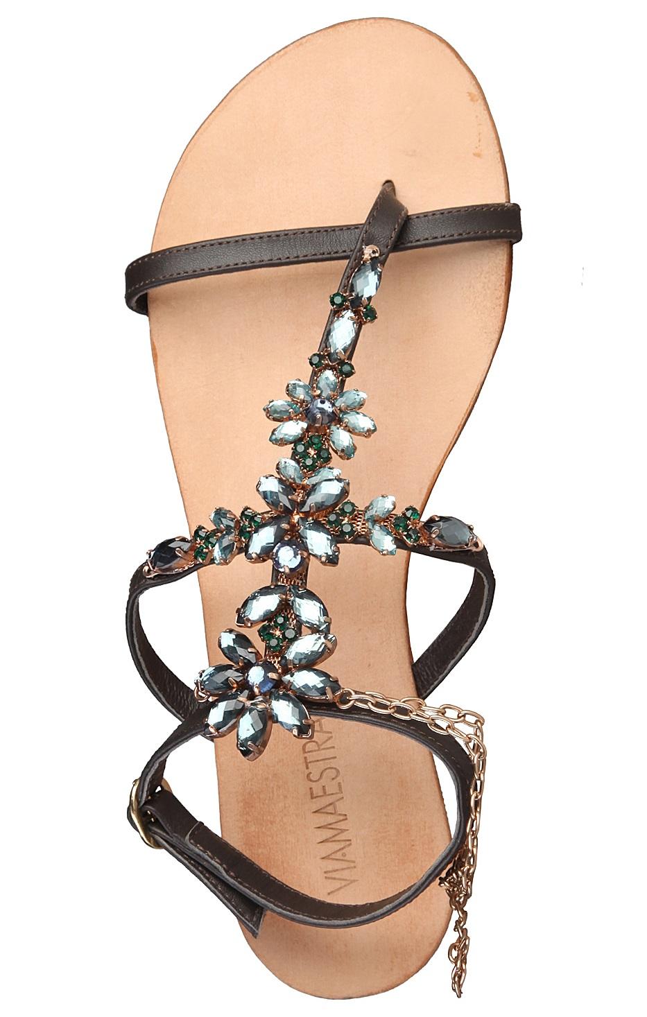 Viamaestra Sandals Brown Rf600171