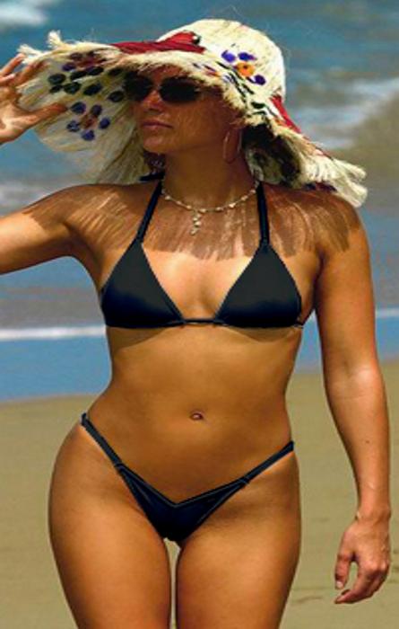 Pleasures High Waist Bikini Blue