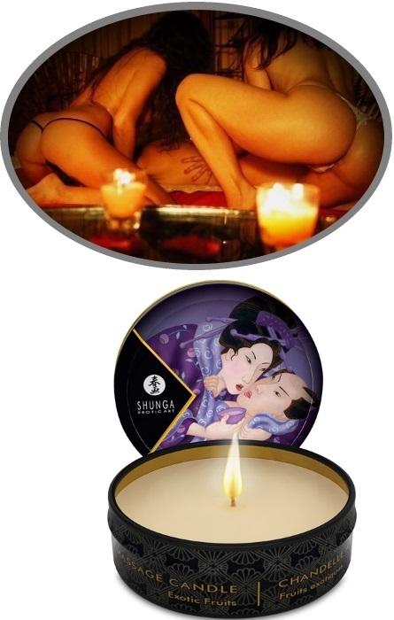 Shunga Vela Massagem Frutos Exoticos Rf45120