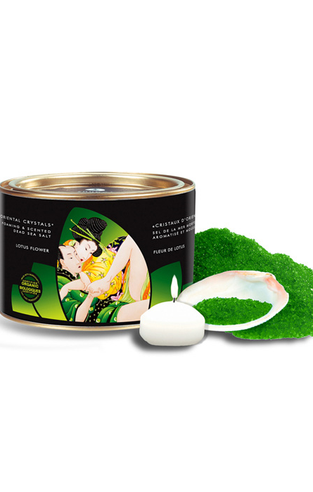 Shunga Oriental Crystals Bath Salts Organica Lotus Flower RF23106