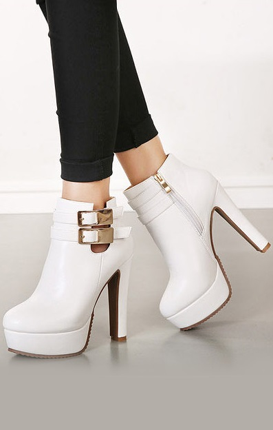 Pleasures Boots White