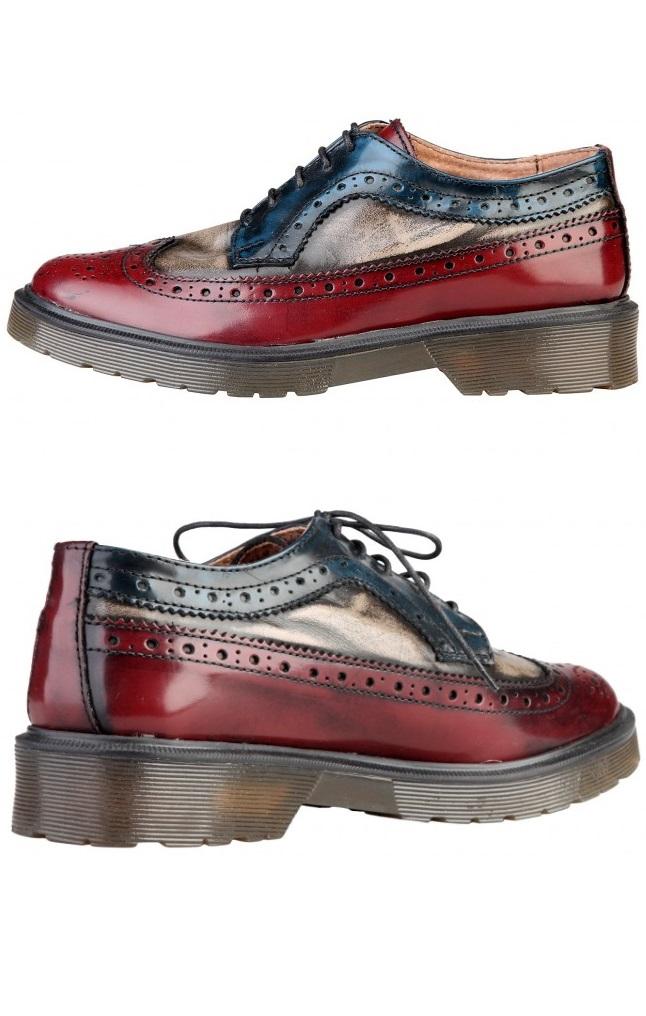 Ana Lublin Urban Shoes Inger Roccia Blu Bordeaux Rf600181